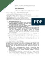 ANALSIS JURISPRUDENCIAL NULIDAD Y REESTABLECIMIENTO DEL DERECHO