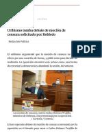 Uribismo tumba debate de moción de censura solicitada por Robledo _ EL ESPECTADOR