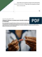 Johnson & Johnson se prepara para reanudar estudio de su vacuna que prueba en Santander _ Vanguardia.com