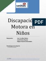 Discapacidad Motora en niños- INFORME