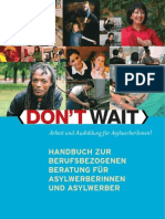 Don't Wait Handbuch zur berufsbezogenen Beratung von Asylwerberinnen und Asylwerbern