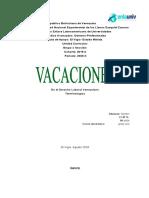 DERECHO CIVIL VACACIONES