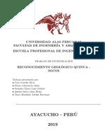 reconocimiento geologico Ayacucho