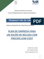 PLAN DE EMPRESA PARA UN SALÓN DE BELLEZA CON PRECIOS LOW-COST ejemplo