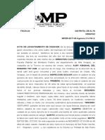 17. ACTA DE LEVANTAMIENTO DE CADAVER