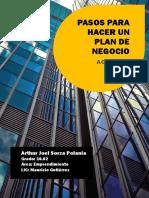 PASOS PARA HACER UN PLAN DE NEGOCIO ( ARTHUR SORZA ) 10.02