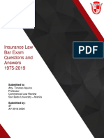 Commercial Law Bar Q _ A — Insurance Law (1975–2019) [4F1920]