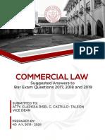 Commercial Law Bar Q _ A (2017–2019) [4D1920]