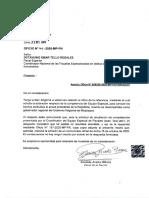 Oficio de la Fiscal de la Nación