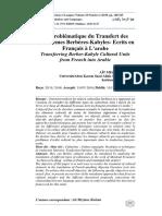 Comment traduire les référents culturels ou culturèmes berbères –kabyles- écrits en français à l'arabe  .pdf