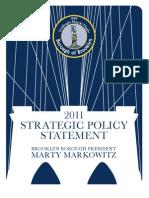 2011 Strategic Policy Statement Marty Markowitz