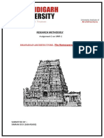 DRAVADIAN ARCHITECTURE -The Rameswaram temple , RESEARCH METHODOLY