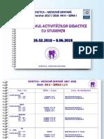 ORAR si program seriile I si II 2017-2018