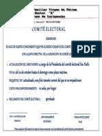 COMUNICADO DEL COMITE ELCTORAL