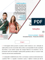 Soluções da Ficha de Avaliação - Fernando Pessoa - Poesia do ortónimo