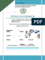 G.F.TECNICAS DE ADMINISTRACION DE MEDICAMENTOS