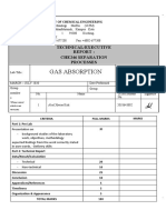 Gas Absorption report