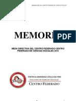 Memoria Final MD CC.SS 2010