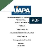 PRACTICA JURIDICA lll TAREA 7