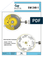 Specifications Techiques watch movement Sellita SW240-1