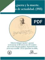 Sigmund Freud - De guerra y muerte