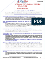 Current Affairs Weekly PDF – October 2020 1st Week (1-8) by AffairsCloud