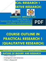 Qualitative Research Practical Research