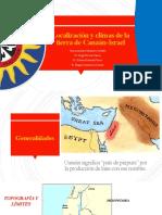 Localización y climas de la tierra de Canaán-Israel