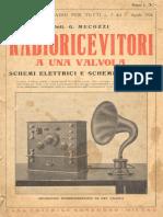 RADIORICEVITORI AD UNA VALVOLA - di G. Mecozzi