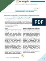 Delta de CO2 arterio-venoso como marcador pronóstico de morbilidad y mortalidad en pacientes sometidos a cirugía neurológica