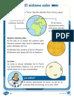 Comprensión lectora por niveles El sistema solar, la Tierra y la Luna