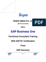 TESPA-SAP Business One course schedule_new WITH ROAD MAP