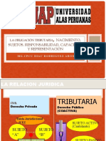 TRIBUTACIÓN I  La obligación tributaria, nacimiento, sujetos. Responsabilidad, capacidad y representación.pptx