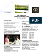 2011 VGT Amateur Spring Championship Details