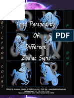 Food Astrology - How Zodiac Signs Determine Your Food Personality (part 1)