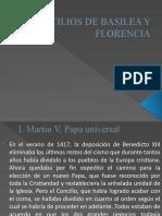 Tesis 5- CONCILIOS DE BASILEA Y FLORENCIA