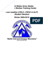 Cold Weather (CWLC and ALIT) Student Handout