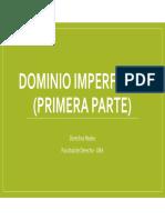 REALES DOMINIO IMPERFECTO (PRIMERA PARTE)