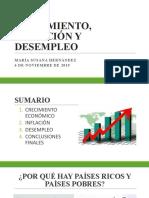 CRECIMIENTO, INFLACION Y DESEMPLEO Maria Susana Hernandez