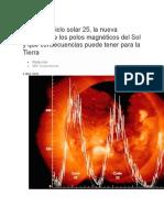 Qué es el ciclo solar 25