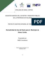 Normatividad de Uso del Suelo para el Municipio de Omoa