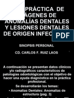DIAGNOSTICO ANOMALIAS E INFECCIONES DENTALES