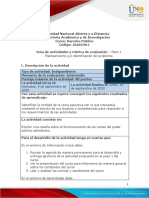 Guía de actividades y rúbrica de evaluación – Paso 1 - Planteamiento y o identificación del problema