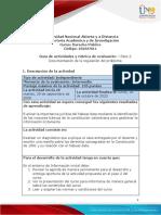 Guía de actividades y rúbrica de evaluación - Unidad 2 - Paso 2 - Documentación de la regulación del problema