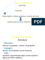 Ensaio acadêmico power point