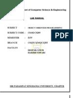 C++ lab manual -2011