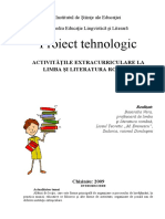 Proiect tehnologic_Activitate extracurriculara.doc