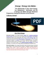 Zero Point Energy - Understanding Creation June 13 Revision.