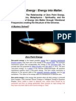 Zero Point Energy - Understanding Creation June 13 Revision.