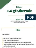 Geothermique